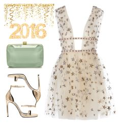 """""""HAPPY NEW YEAR ✌️"""" by namelessale ❤ liked on Polyvore featuring Yves Saint Laurent and Elie Saab"""