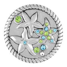 Ginger Snaps Jewelry - Three Starfish with Stones