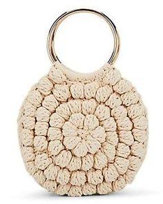 be09afa32 Ulla Johnson Women's Lia Crocheted Cotton Tote Bag - Cream Sacolas De  Algodão, Círculos De