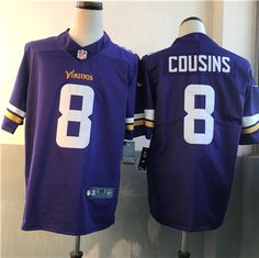Nike  Vikings 8  KirkCousin Purple Vapor Untouchable Player Limited  Stitched  Jersey   6cd8fdebf