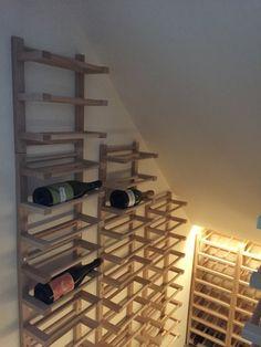 Hutten wall-mounted Side-on Wine Racking - IKEA Hackers Ikea Wine Rack, Wine Rack Wall, Wine Wall, Wine Racks, Under Stairs Wine Cellar, Expedit Regal, Home Wine Cellars, Wine Rack Cabinet, Ikea Hackers