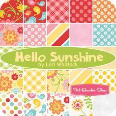 Hello Sunshine Fat Quarter Bundle Lori Whitlock for Riley Blake Designs - Fat Quarter Shop