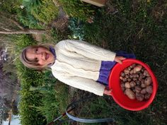 The best part of harvesting our small stash of spuds was doing it with my daughter.