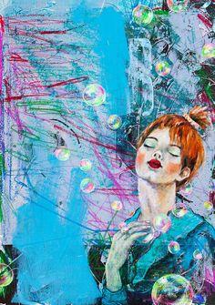 Figurative Art, Modern Art, Artwork, Anime, Watercolour Paintings, Bows, Colors, Art Work, Work Of Art