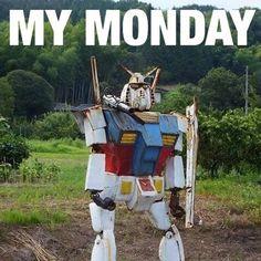 ... oh it's #Monday? #gundam #rx782 #lol