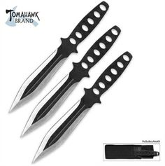 Triple Threat Throwing Knife Set For Sale Cool Knives, Knives And Tools, Knives And Swords, Ninja Weapons, Weapons Guns, Ninja Gear, Knife Throwing, Super Sets, Knife Art