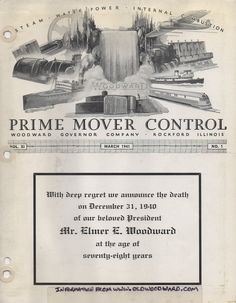 Memorial issue of the Prime Mover Control from March 1941.