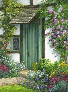 ✿Flowers at the window & door✿ BARBARA ROSBE