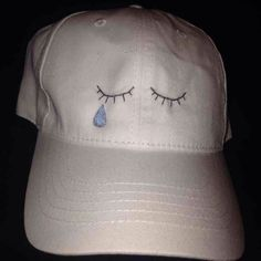 """""""crybaby / sad girl"""" hat """"crybaby / sad girl"""" hat. Make these hats myself. One size fits all. Available in various hat colors (black white navy blue red grey and pink) I also sell on Mercari cheaper✨ Brandy Melville Accessories Hats"""