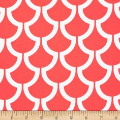 Michael Miller Bekko Home Decor Billow Coral - Discount Designer Fabric - Fabric.com