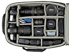 Airport Addicted™ V2.0 Backpack - Think Tank - I wish I had all this equipment and knew how to use it!