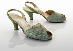 1950-1952, Italy - Pair of sandals by Salvatore Ferragamo