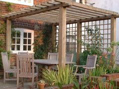 Cottage Gardens Looking for ideas to decorate your garden fence? Add some style or a little privacy with Garden Screening ideas. See more ideas about Garden fences, Garden privacy and Backyard privacy. Pergola Patio, Wooden Pergola, Pergola Shade, Backyard Patio, Backyard Landscaping, Small Pergola, Cheap Pergola, Landscaping Ideas, Rustic Pergola