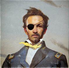 Bo Bartlett self portrait