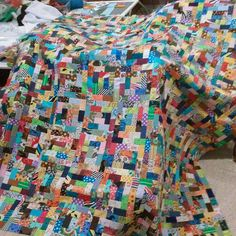 Creative Chicks: Scrappy Rectangles Quilt Version #2