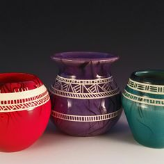 Hand carved Chumash inspired vases. Check them out, get them well their hot!!!
