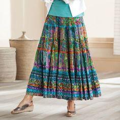Women's Plus Size Ribbon Crinkle Fiesta Skirt
