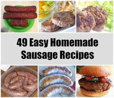 49 Homemade Sausage Recipes recipe recipes homesteading how to make sausage off grid cooking shtf prepping Homemade Sausage Recipes, Pork Recipes, Cooking Recipes, Sushi Recipes, Fun Recipes, How To Make Sausage, Food To Make, Sausage Making, Grinders Recipe
