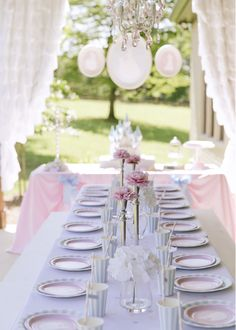 Cinderella birthday party table! See more party planning ideas at CatchMyParty.com!