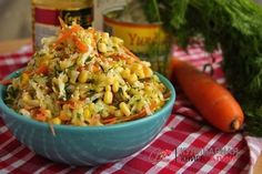 Salad with cabbage, corn, and without mayonnaise!