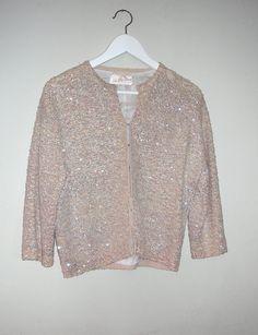 Vintage Saks Fifth Avenue sequined jacket cardigan by lePetitFoyer