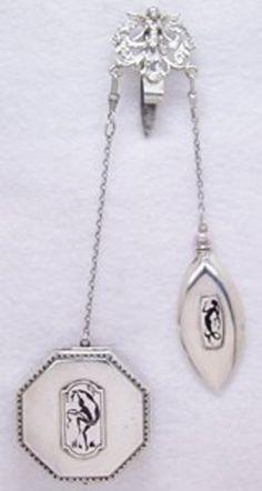 Sterling Silver Art Nouveau Chatelaine @vintageclothin.com