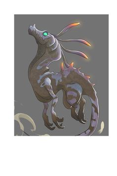That's a personnal project I did, to train my skills in illustration This creature is mix between a Murena and a Dragon