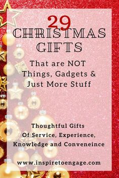 29 thoughtful Christmas gift ideas that do not take up space #giftidea #christmas #christmasgiftsideas #christmasgift2017