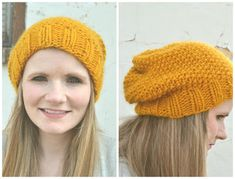 Knitted Slouchy Beanie Free Pattern...if you can knit I'd love to have one, or learn how so I can make one!