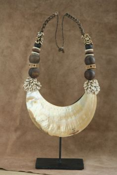 Korowai  ancient  shell necklace from papua FREE by TheWisdomGaze, $300.00