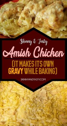 Amish Chicken Recipe, It has a great flavor and makes it's own gravy that go great on mashed potatoes or stuffing. Save this pin for later. #amish #chicken #amishchicken #quick #easy Amish Recipes, Dutch Recipes, New Recipes, Cooking Recipes, Favorite Recipes, Dinner Recipes, What's Cooking, Cooking Ideas