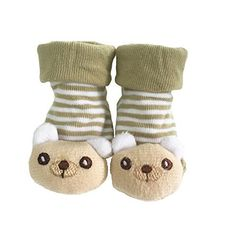 chinatera Baby 3D Cartoon Anti-Skid Booties Socks Slippers Cotton