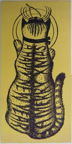 Barbara Jones' Christmas card, 1957.
