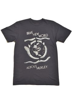 Brave New World T-shirt.  Either gray or blue, but XL.
