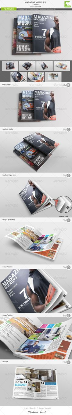Magazine Mockups #magazinemockup #journalmockup Download: http://graphicriver.net/item/magazine-mockups/4835784?ref=ksioks