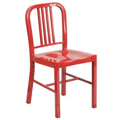 $60 - Multi-colored Metal Indoor/ Outdoor Chair