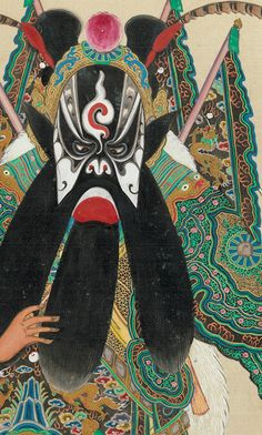 "One hundred portraits of Peking opera characters (detail), late 19th–early 20th century. Chinese. The Metropolitan Museum of Art, New York, Rogers Fund, 1930 (30.76.299a–xx) | This work is featured in our ""The Art of the Chinese Album"" exhibition on view through March 29, 2015. #mustache #movember #AsianArt100"