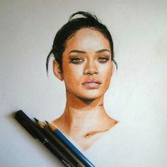 #Rihanna Pencil Drawing✏️
