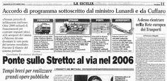 Sicilia: infrastrutture...una lunga attesa (1° Ep. anno 2001) | Comitato Pendolari Siciliani