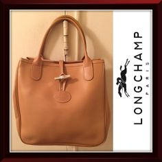c3a26ee6f4 Longchamp Bags | Roseau Tan Leather Tote Purse Bag | Poshmark