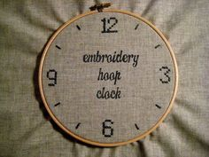 From Scratch: Embroidery Hoop Clock
