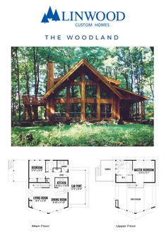 Looking for a perfect retreat in the woods? The Woodland home package is a beautiful prow and cedar, post and beam design with soaring windows to appreciate your surroundings. The open concept living space is perfect for family gatherings and the upper master bedroom suite makes the home a retreat at any time of day. #linwoodhomes #cottageliving #postandbeam #skichalet
