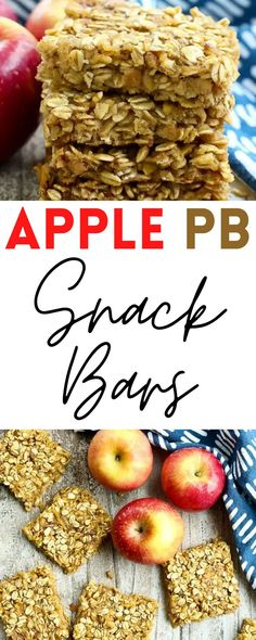 These Apple Peanut Butter Snack Bars are healthy, simple, and delicious. You can have them for breakfast or mid-day for a delicious snack!
