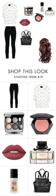 """""""Sin título #95"""" by rmsets ❤ liked on Polyvore featuring STELLA McCARTNEY, Chanel, H&M, Lime Crime, Gucci, MAKE UP FOR EVER and Givenchy"""