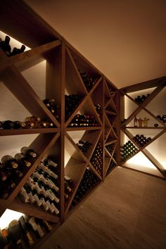 cellar with diamond bins Caves, Home Wine Cellars, Wine Cellar Design, Wine Display, Wine Wall, Wine Cabinets, Italian Wine, Wine Storage, Deco Table