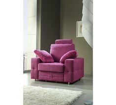 Sillon cama. Sillon tapizado en tela, disponible en seis colores. Descúbrelos!