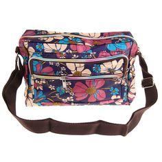 Casual Women Messenger Bag Ladies Crossbody Bags For Flower Print Women Handbags Waterproof Nylon Shoulder Bags Bolsa Feminina