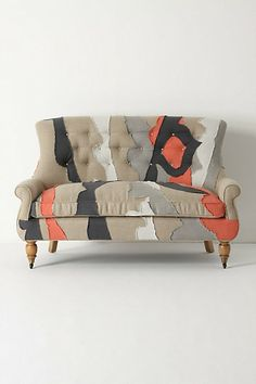 Just something about this patchwork loveseat > Astrid Settee, Patchwork - Anthropologie.com