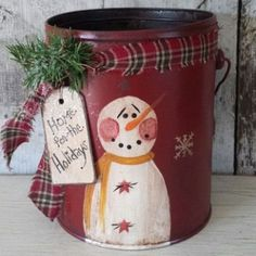 25+ best ideas about Painted Snowman