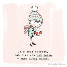 It's definitely been cold around here for us! Has anyone else started bundling up and drinking lots of hot cocoa? #cratepaper
